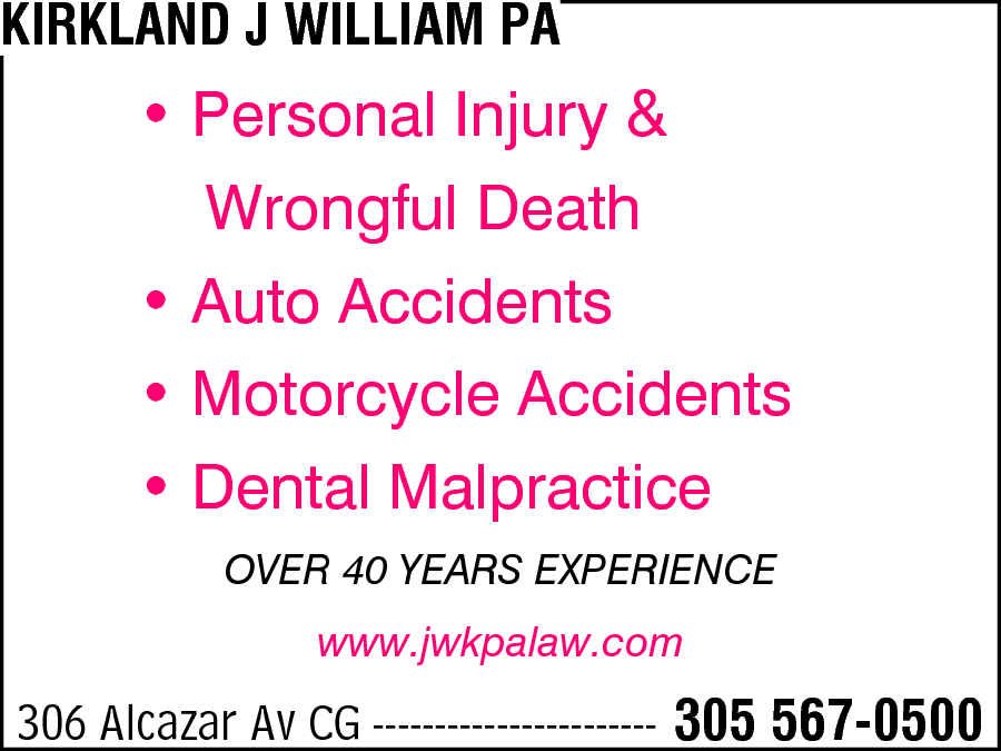 Kirkland, J William PA