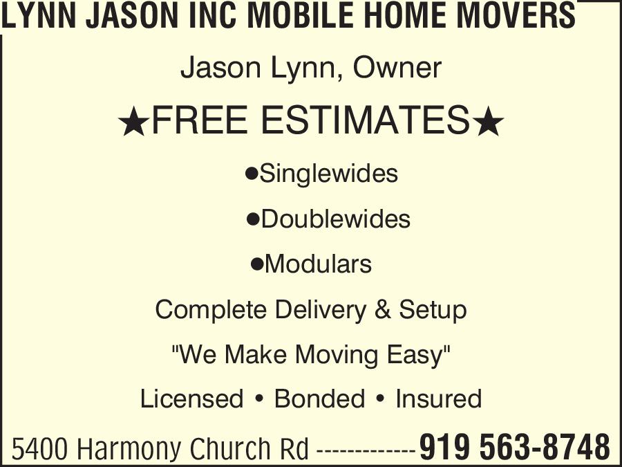 Lynn Jason Inc Mobile Home Movers