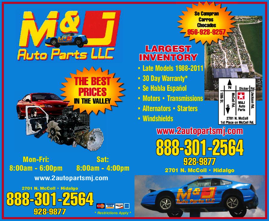 M Amp J Auto Parts Hidalgo Tx 78557 Yp Com