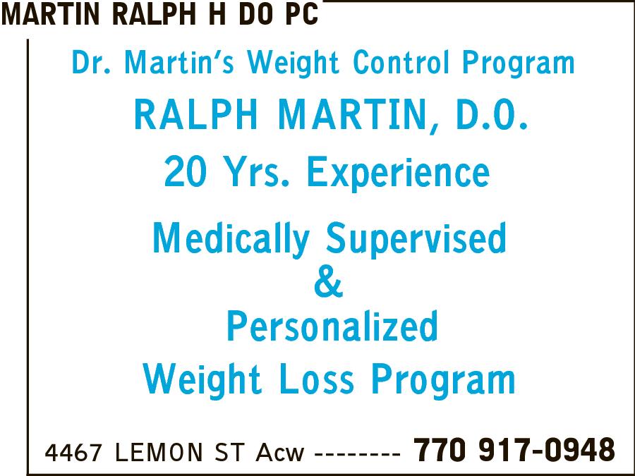 Martin, Ralph H DO PC