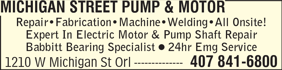 Michigan Street Pump & Motor