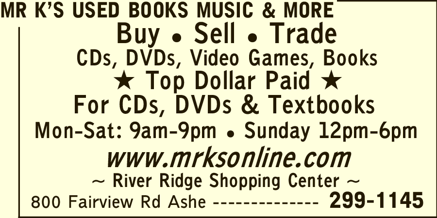 Mr K's Used Books Music & More