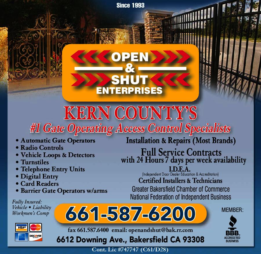 Open & Shut Enterprises in Bakersfield , CA - YP.com