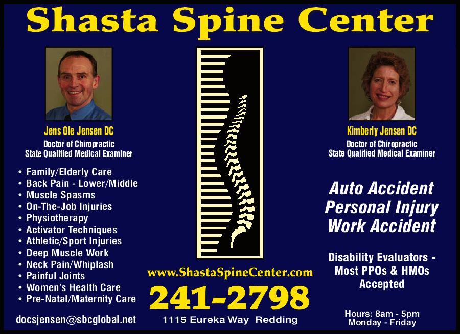 Shasta spine center redding ca 96001 for Shasta motors redding california