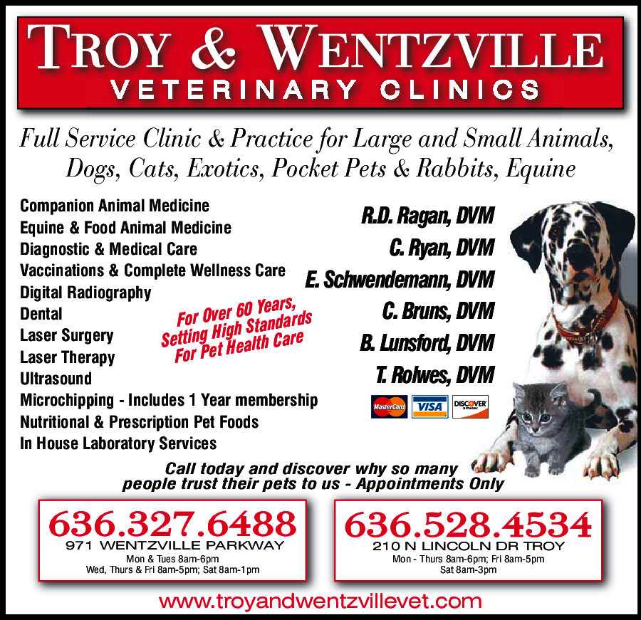 Wentzville & Troy Veterinary Clinics