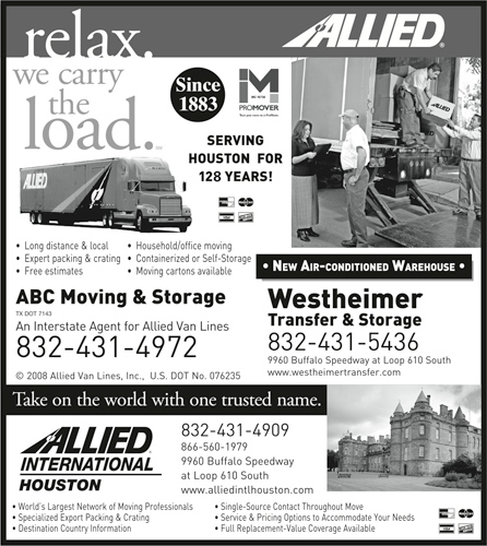 Westheimer Transfer & Storage - Agent for Allied Van Lines