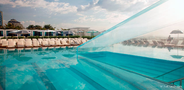 America's Fabulous Hotel Pools - W Fort Lauderdale