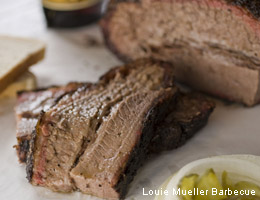 Louie Mueller's all-beef brisket