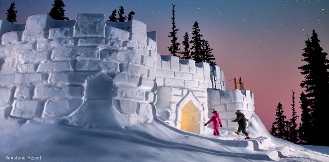 Kidtopia Snow Fort at Keystone Resort