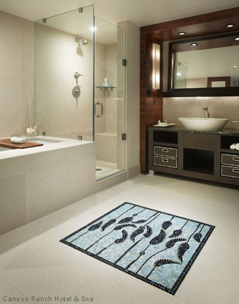 Fabulous Hotel Baths - Canyon Ranch Resort Miami