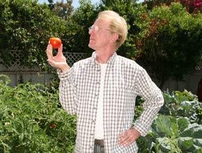 Ed Begley Jr. in his garden at home