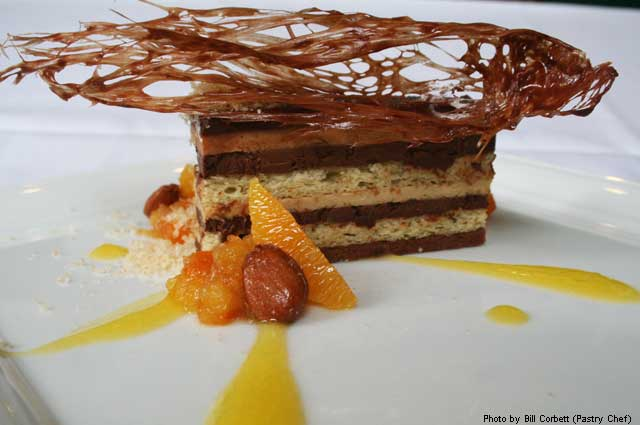 Opera Cake at Absinthe Brasserie & Bar
