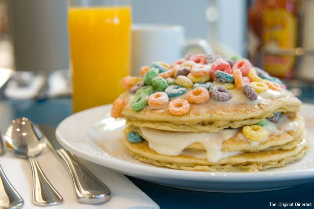 Fruit Loop Pancakes at The Original Dinerant
