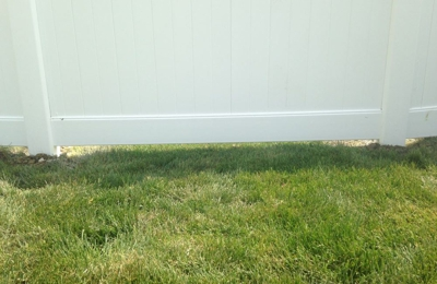 """Northwest Cedar Products - Romeoville, IL. This five inch gap is called """"tight to the ground""""."""