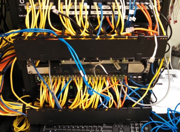 Same Day Jacks & More - Perris, CA. Added data lines to a patch panel in Drs. office.