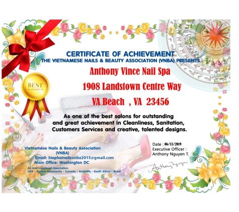 Anthony Vince Nail Spa - Virginia Beach, VA
