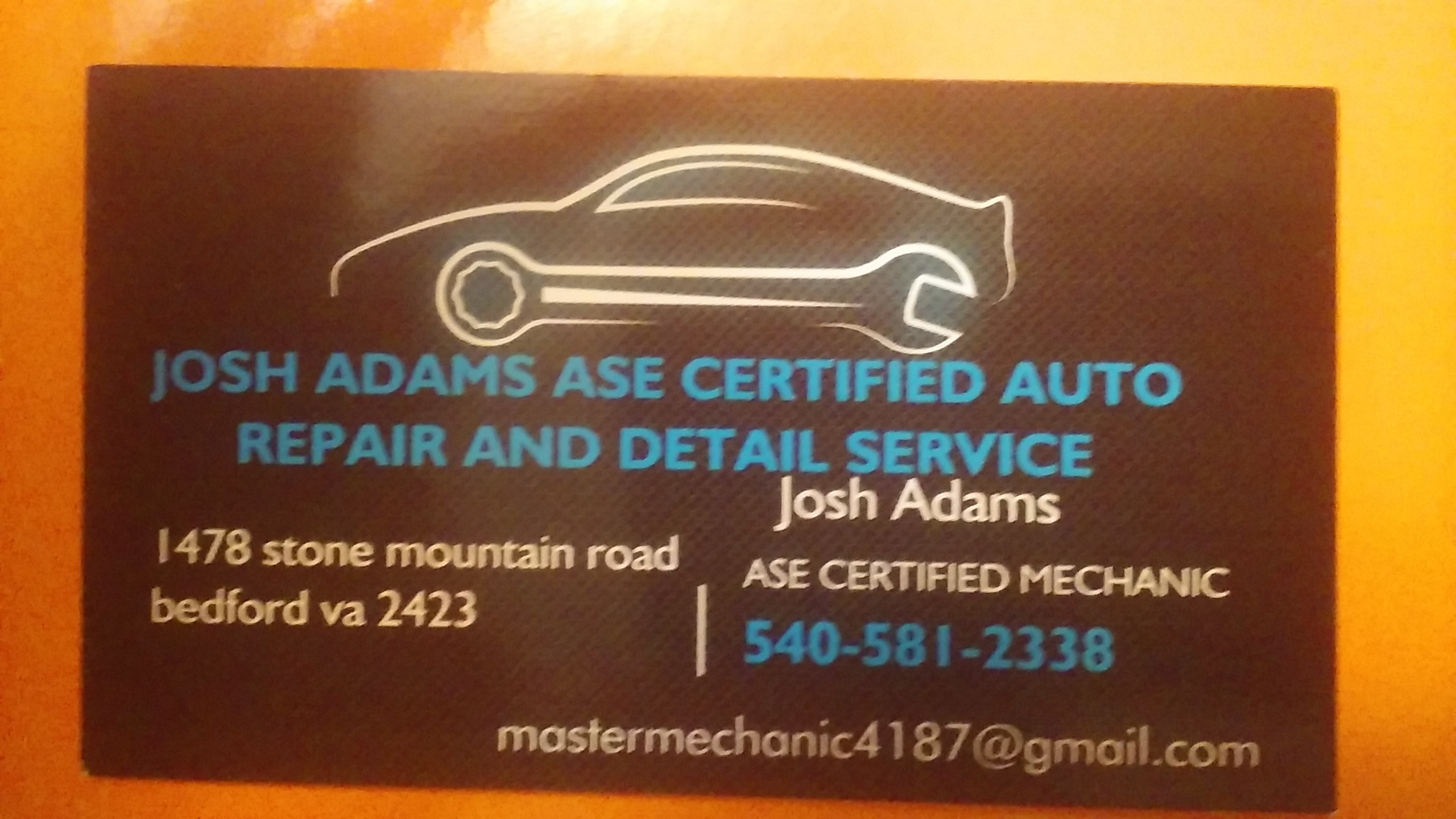 Josh adams ase certified auto repair and detail service 1478 stone josh adams ase certified auto repair and detail service 1478 stone mountain rd bedford va 24523 yp xflitez Image collections