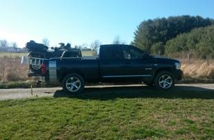 My Honda Foreman Rubicon trx500fa Hondamatic on the back of my truck.