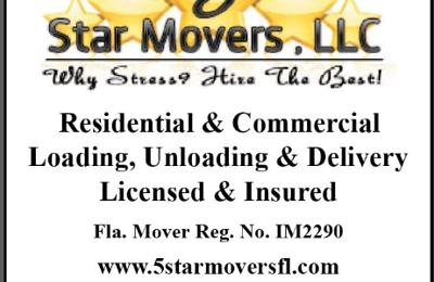 5 Star Movers LLC