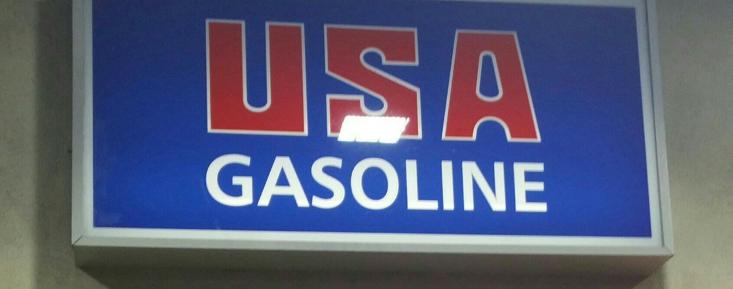 Usa Gasoline Sign