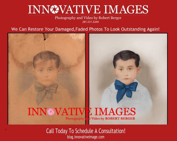 Innovative Images Photography by Robert Berger - Houston, TX. Photo Picture Restoration for Flood, Water, Mold Damaged Images!