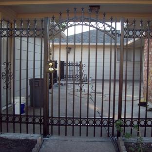 Rio Grande Fence Co - Houston, TX. Rio Grande Fence - Houston Wrought Iron gate circles
