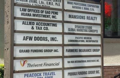 Live Oak National Medical Center - Arcadia, CA. Business sign