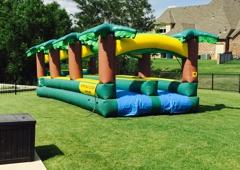 Bouncin Craze Delivery - Edmond, OK. 40 ft Hawaiian Double Lane Slip n Slide 15X40x8