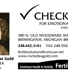 Check-Up for Emotional Health - Rochelle A. Gold LMSW - Birmingham, MI