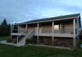 Quality Built LLC - Perham, MN. New porch done! All cedar, versatex post wraps.