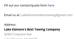 Lake Elsinore's Best Towing Company - Lake Elsinore, CA