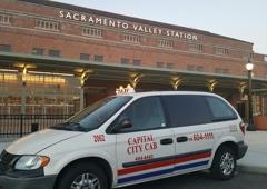 Sacramento City Cab - Sacramento, CA. At rhe Amtrak train station.