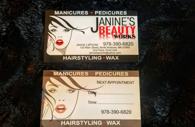 Janine's Beauty Works - North Andover, MA. I have relocated to 133 Main Street North Andover