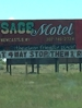 Condition of billboard on outskirts of town represents condition of motel itself.