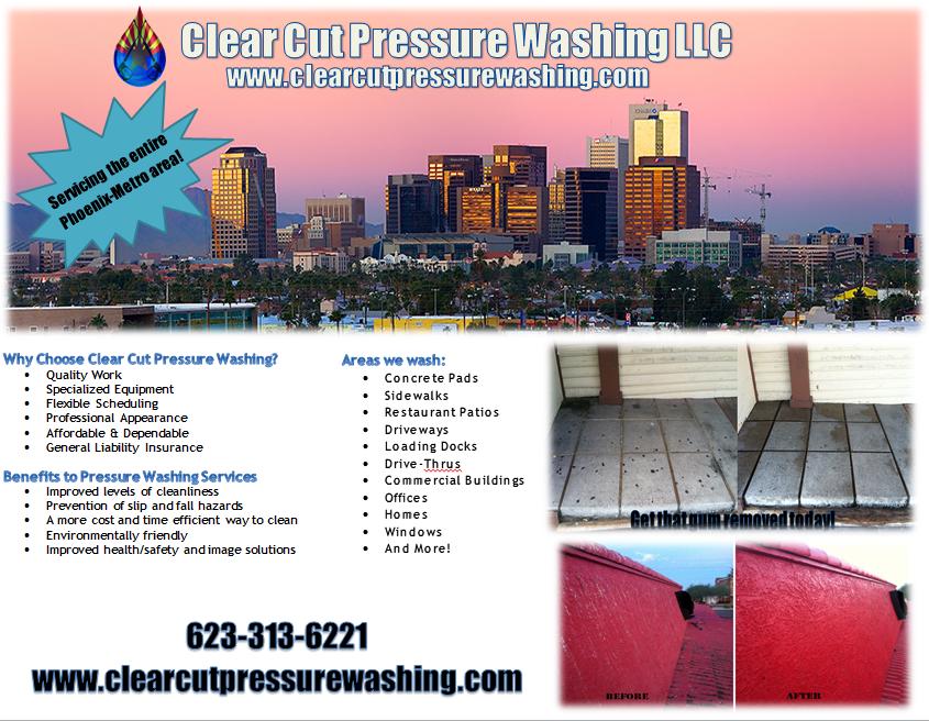 Clear Cut Pressure Washing LLC 6422 w cortez st, glendale