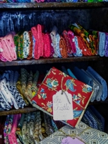 Many fat quarters of fabric available.