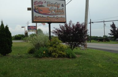 Billy's Body & Paint Inc - Saylorsburg, PA. Sign at our location in Saylorsburg PA. Old 115