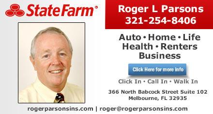Roger L Parsons State Farm Insurance Agency 366 N Babcock St Ste 102 Melbourne Fl 32935 Yp Com