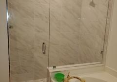 Lake Worth Mirror and Glass Inc. - Lake Worth, FL. Frameless shower door