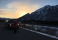 Greatland Taxi And Tours Service - North Pole, AK. Winter adventure sunset in the mountains