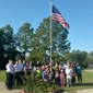 Home School Cottage - Slidell, LA. New Flagpole! Thanks to Perry Matherne from 'Modern Woodmen' for donating the Flagpole and to the Slidell Firemen for helping to dedicate it