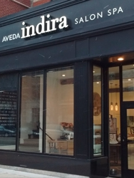 Front Entrance at Indira Salon and Spa, Chicago's premier Aveda Salons with locations in Southport, Park Ridge and Old Town.