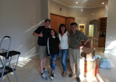 Americas Movers Inc. - Miami, FL. The Luna family with driver George. Stress free moving!