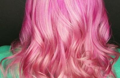 Salon Vivid - Webster, TX. Pretty in pink by Stephanie