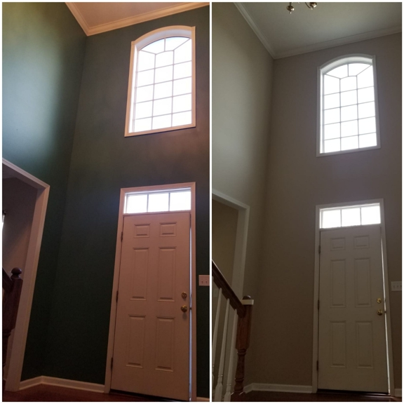 Jose's painting and Handyman services - Cincinnati, OH. Interior foyer with high ceiling painting