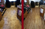 Before and after of flooring Installation in RV