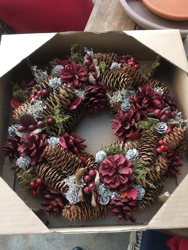 One of their holiday wreaths.