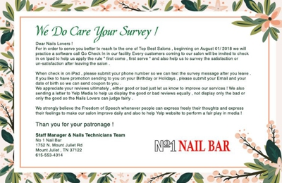 No One Nail Bar - Mount Juliet, TN