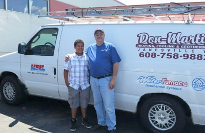Don-Martin Heating, Cooling & Geothermal Inc. - Janesville, WI. My grandson and future Don- Martin Heating and Cooling employee