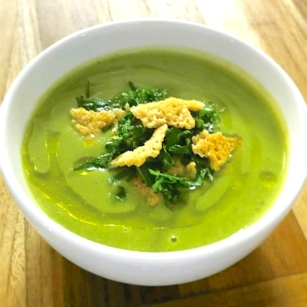 Causwells Chilled Asparagus Leek Soup